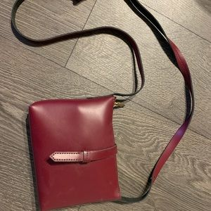 Leather RED crossbody from J.Crew